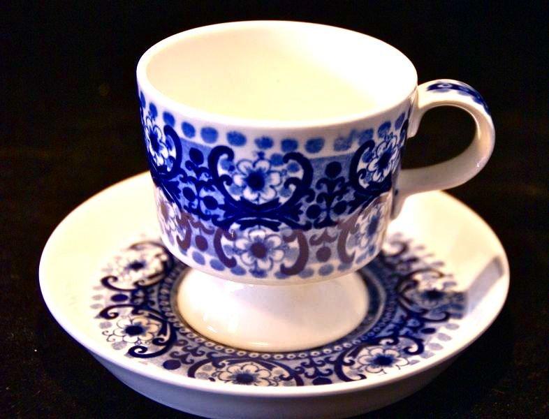 Arabia kaffekoppar blå